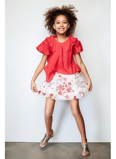 Lia Lea Lia Lea Kız Çocuk Kırmızı Etek 19SSLL07213 Kırmızı